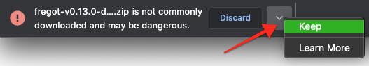 Chrome warning message