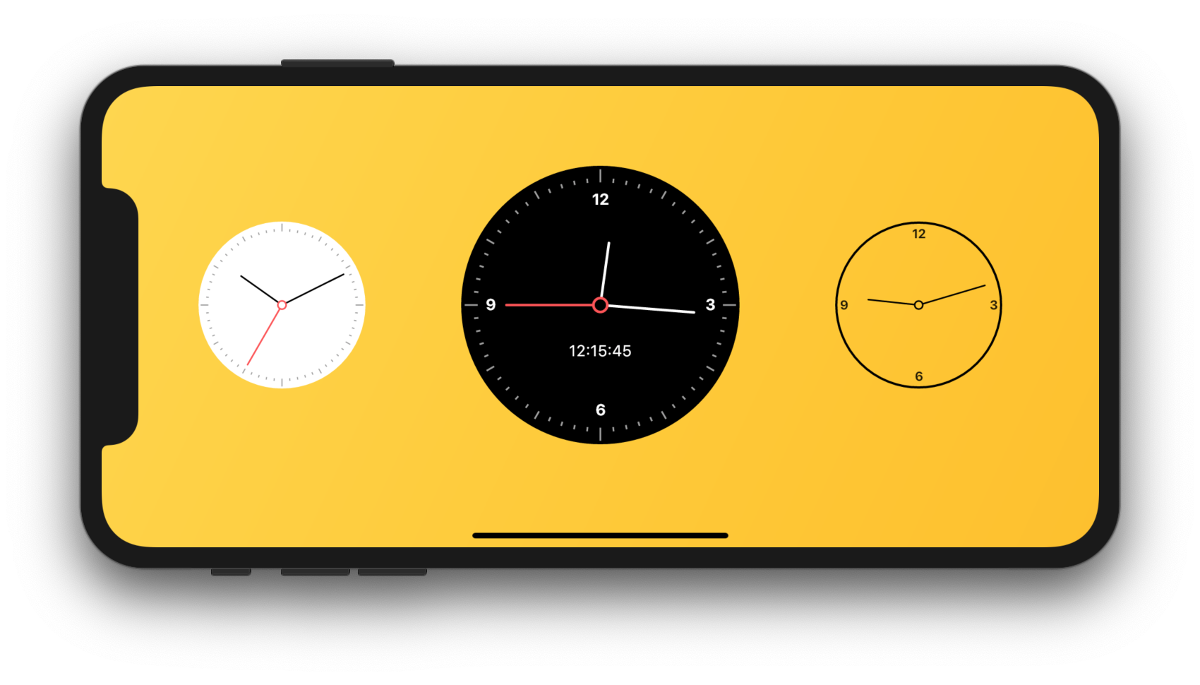 Flutter Analog Clock Screenshot