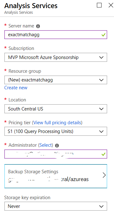 create Azure AS