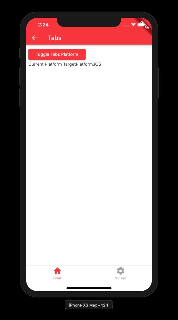 Bottom Navigation iOS