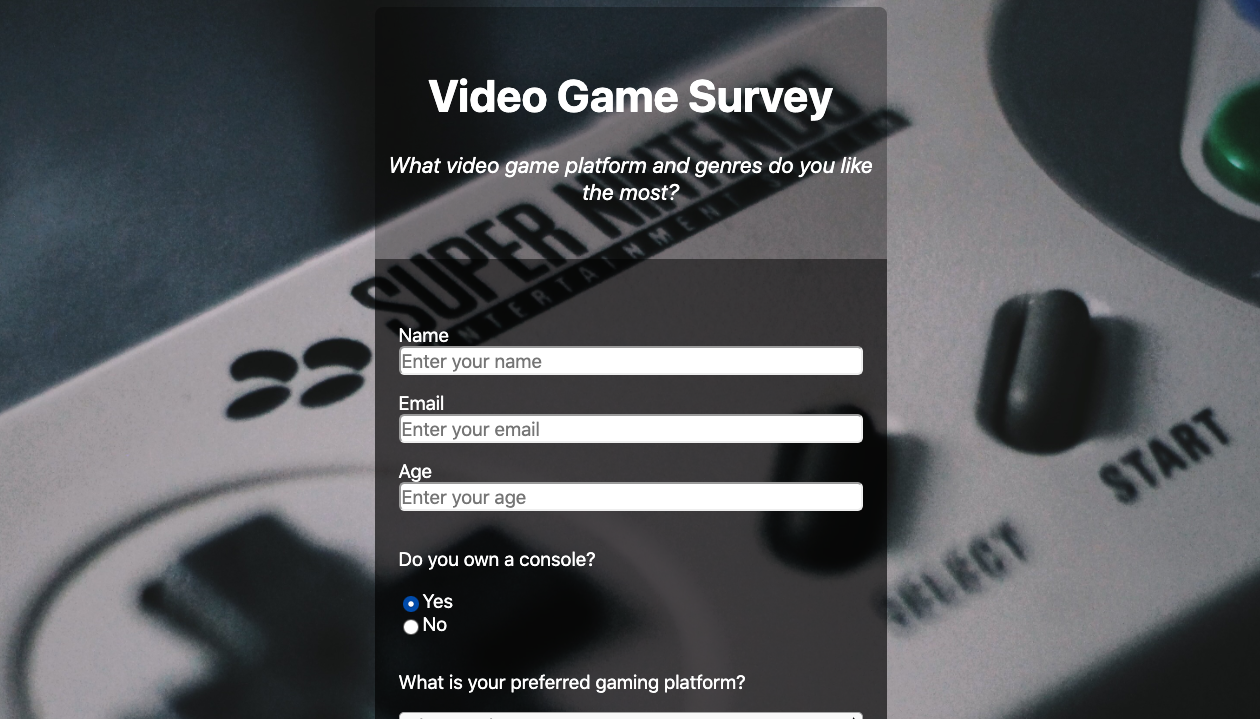 survey page tile