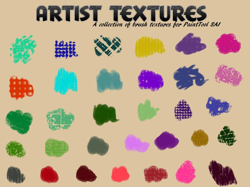 绘画艺术工具纹理 —— SAI画笔素材