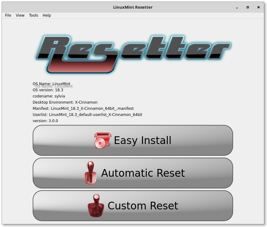 Resetter Screenshot