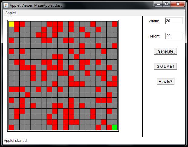 GitHub - gajduk/maze-generator-and-solver-applet: A simple Java