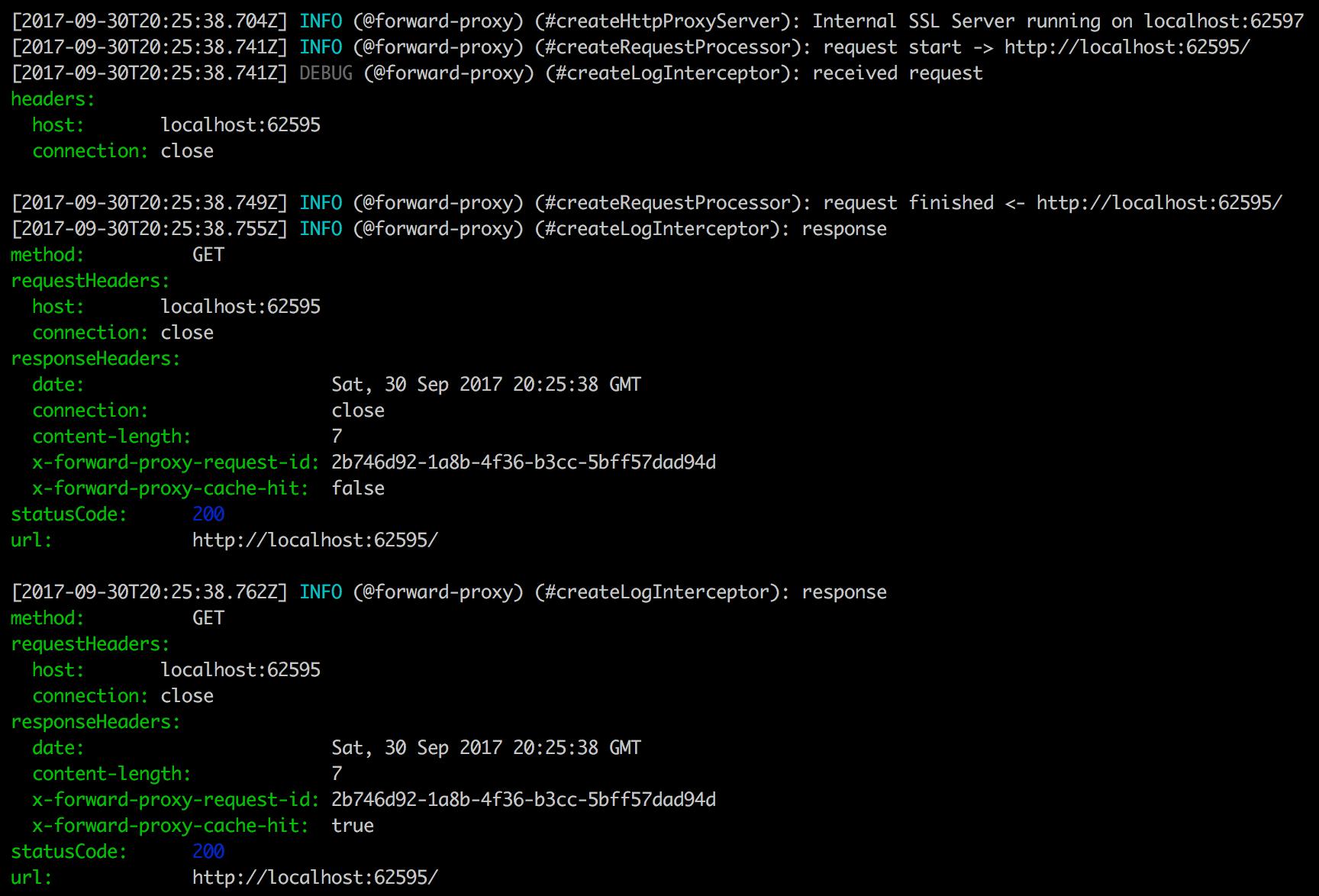 CLI output demo