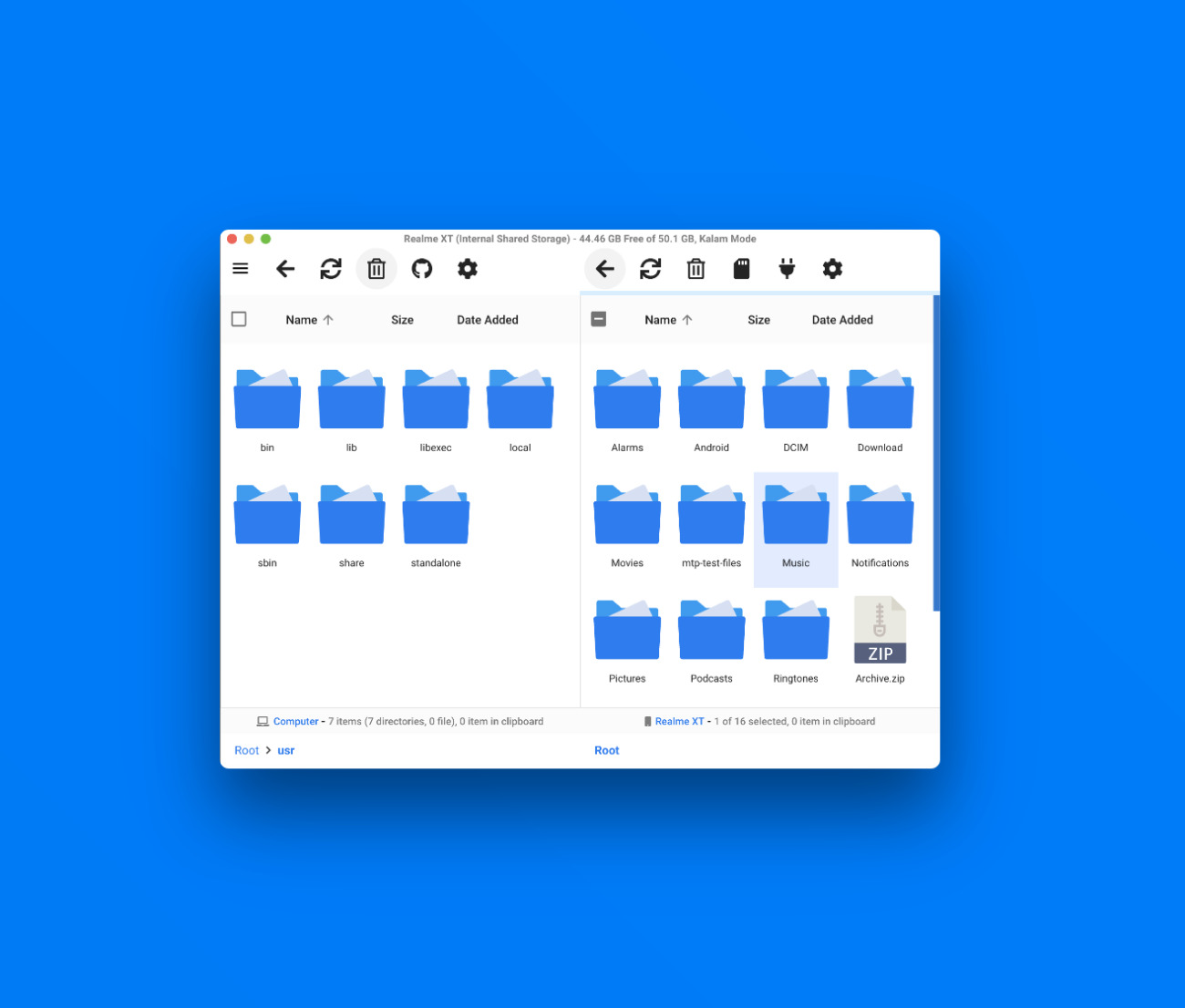 OpenMTP File Explorer