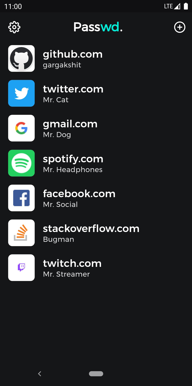 Flutter Beautiful Password Manager App