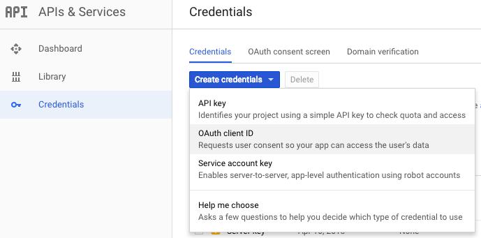 screenshot for creating new id