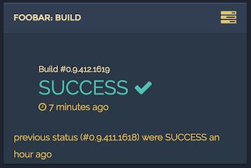 TeamCity build type status