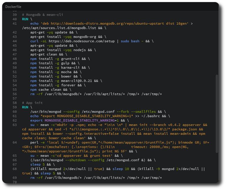 RUN Shell Screenshot