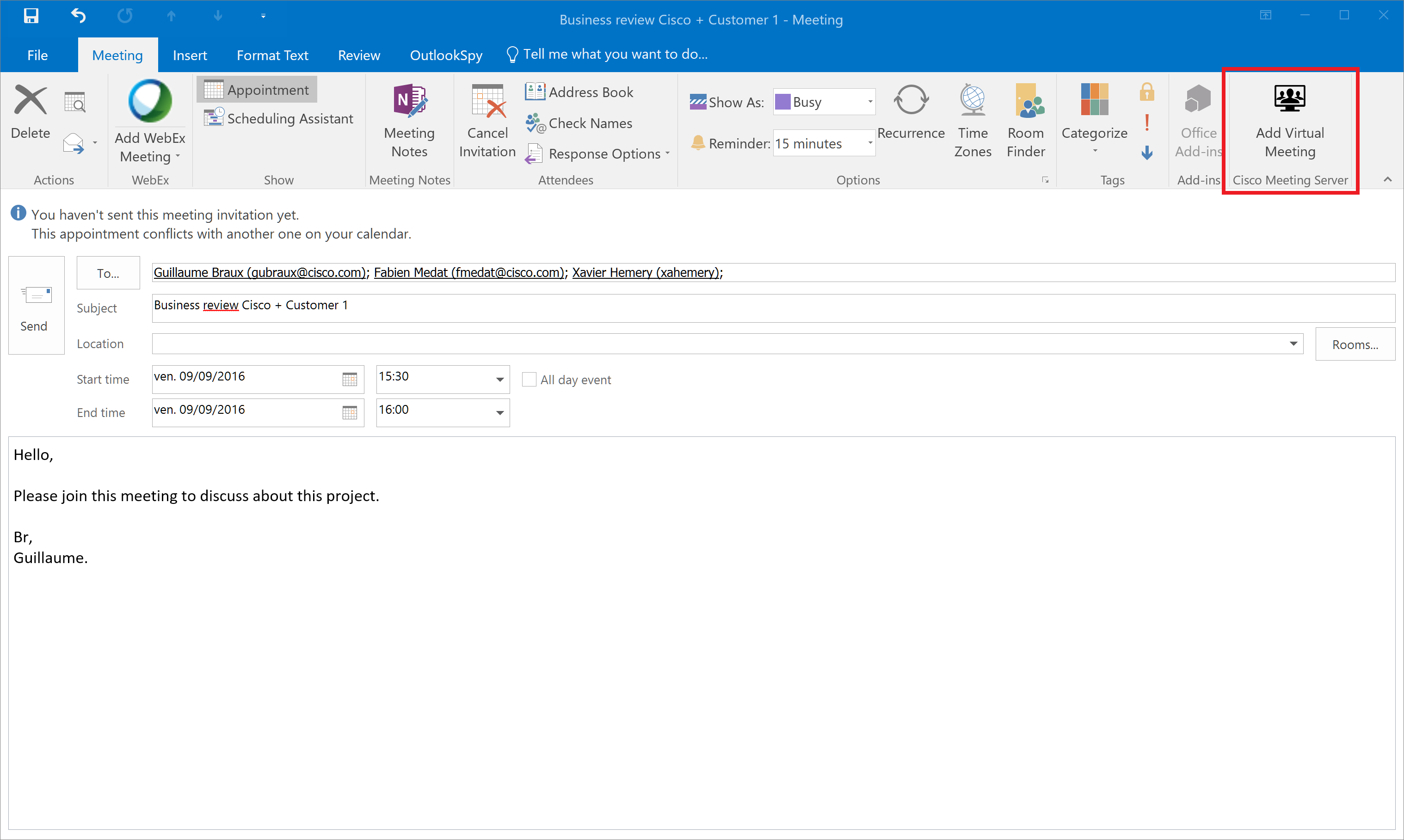 GitHub gbrauxCMSOutlookAddin Outlook 20132016 AddIn for