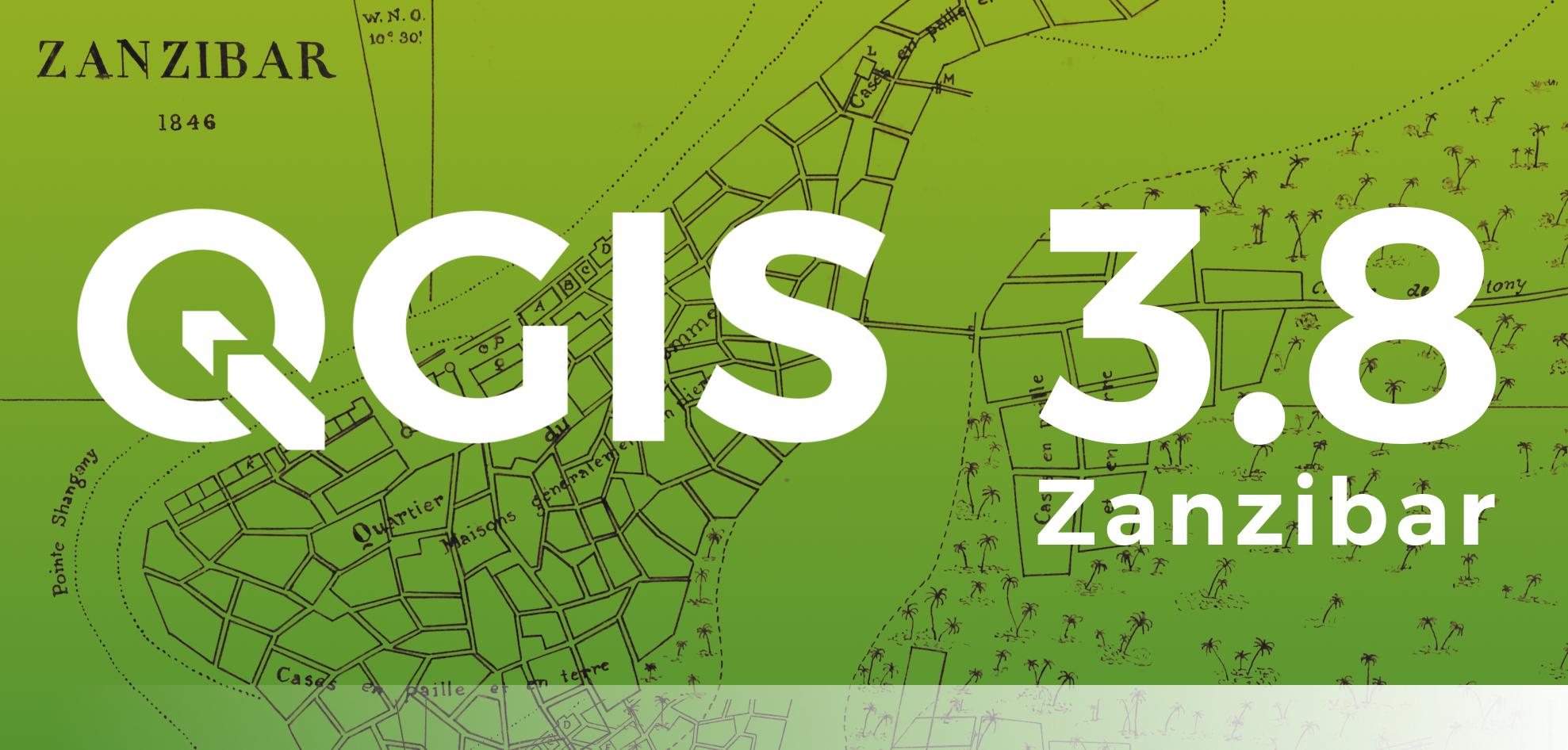 QGIS 3.8 Zanzibar