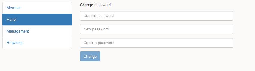 Membership user panel