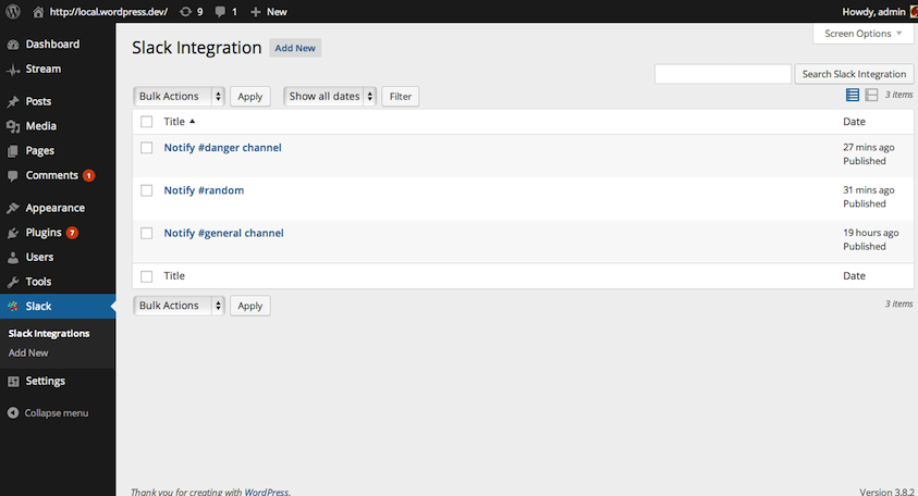 Integrations list. Yes, you can add more than one integration.
