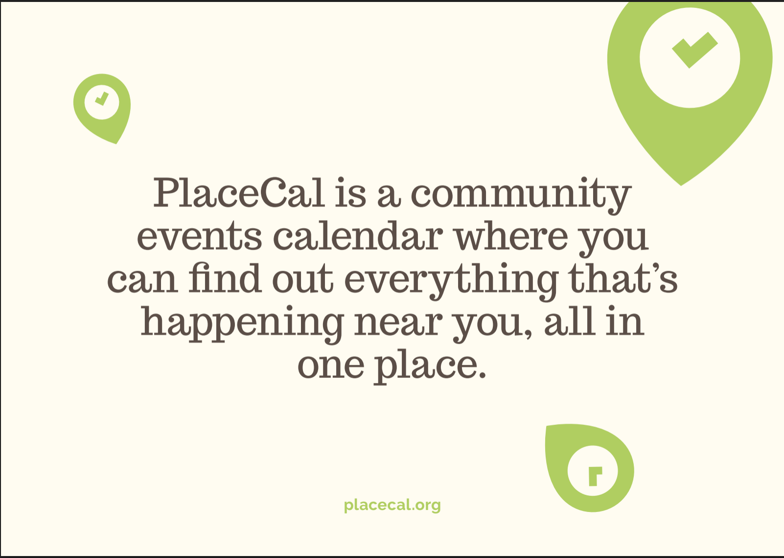 PlaceCal definition