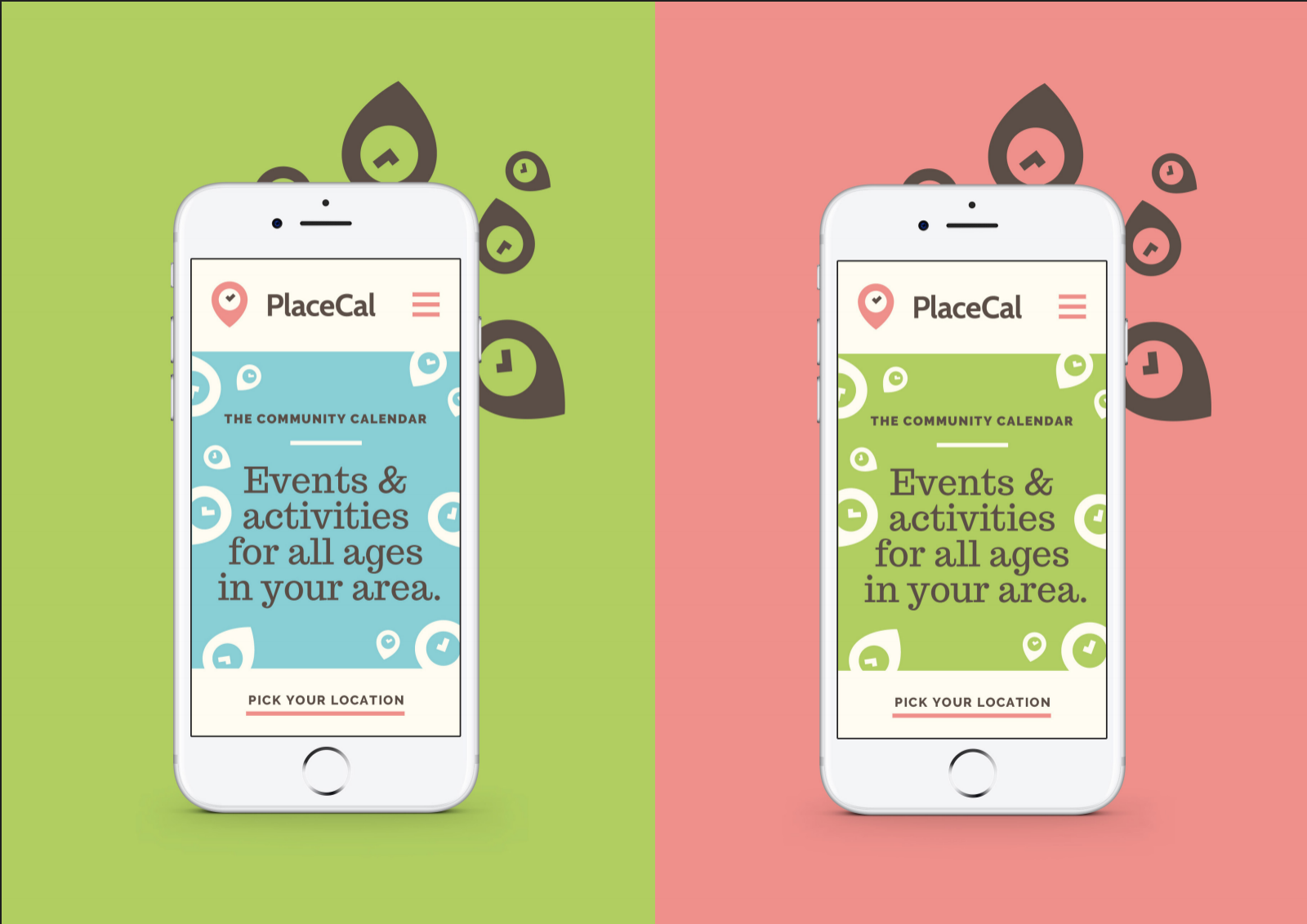 PlaceCal on a smartphone