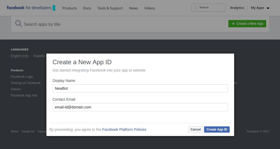 Fb app screen2