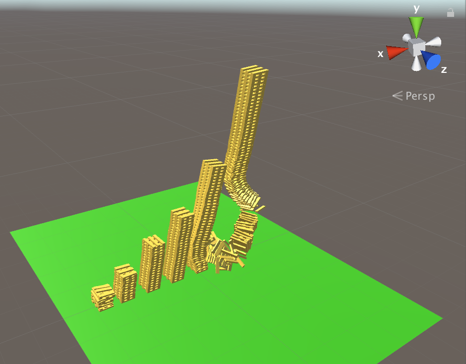 towers collapsing