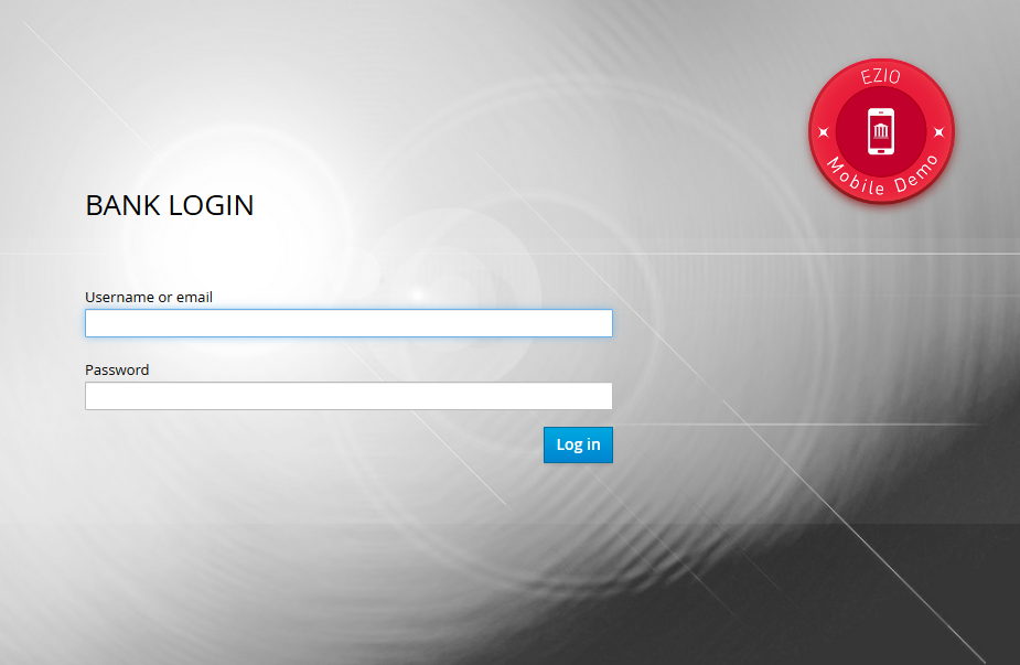 Demo login page