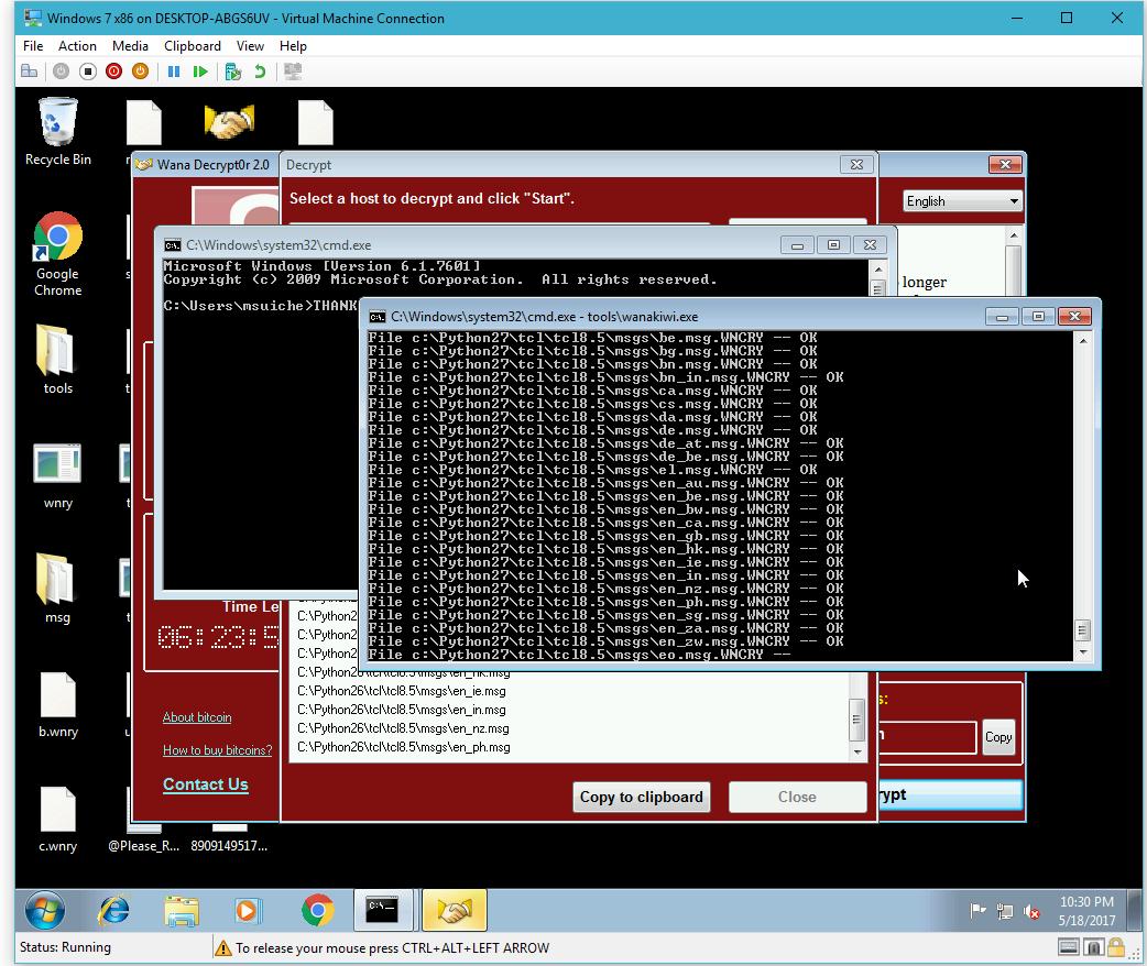 طريقة فك تشفير فيروس WannaCry الفدية واسترجاع ملفاتك بدون دفع مال