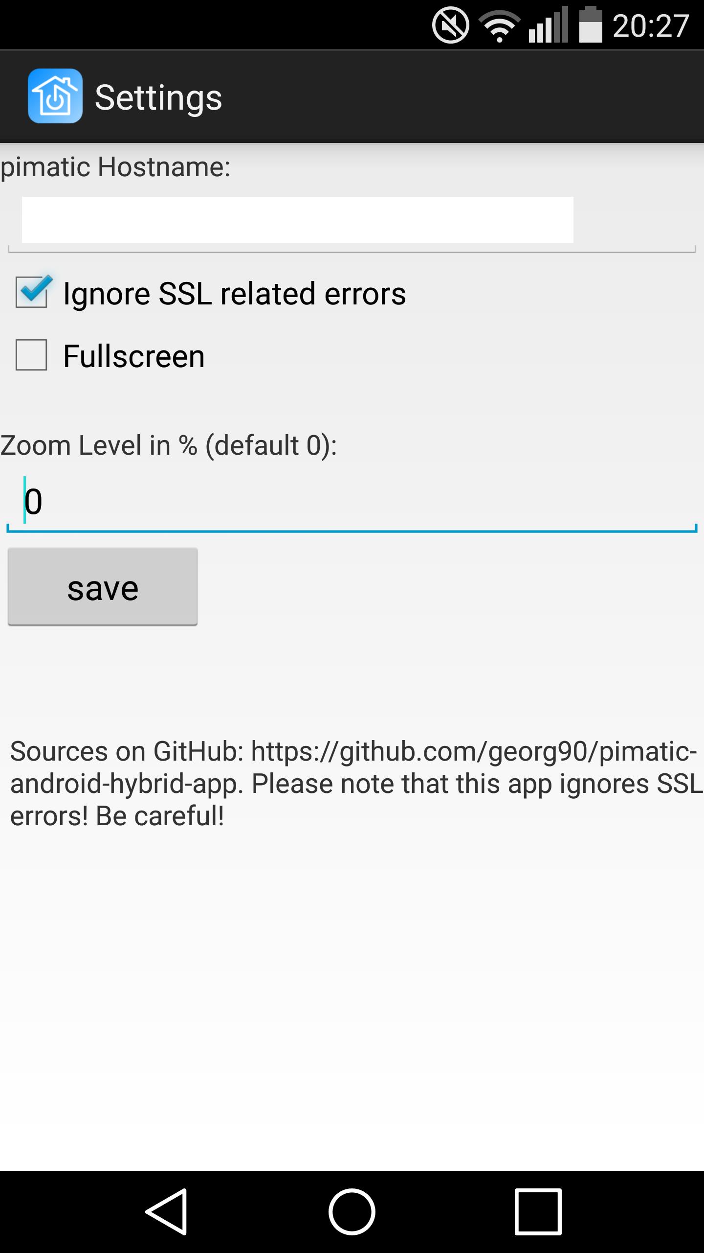 GitHub - georg90/pimatic-android-hybrid-app: Hybrid app for