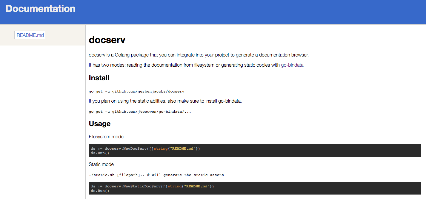 GitHub - gerbenjacobs/docserv: docserv is a Golang package