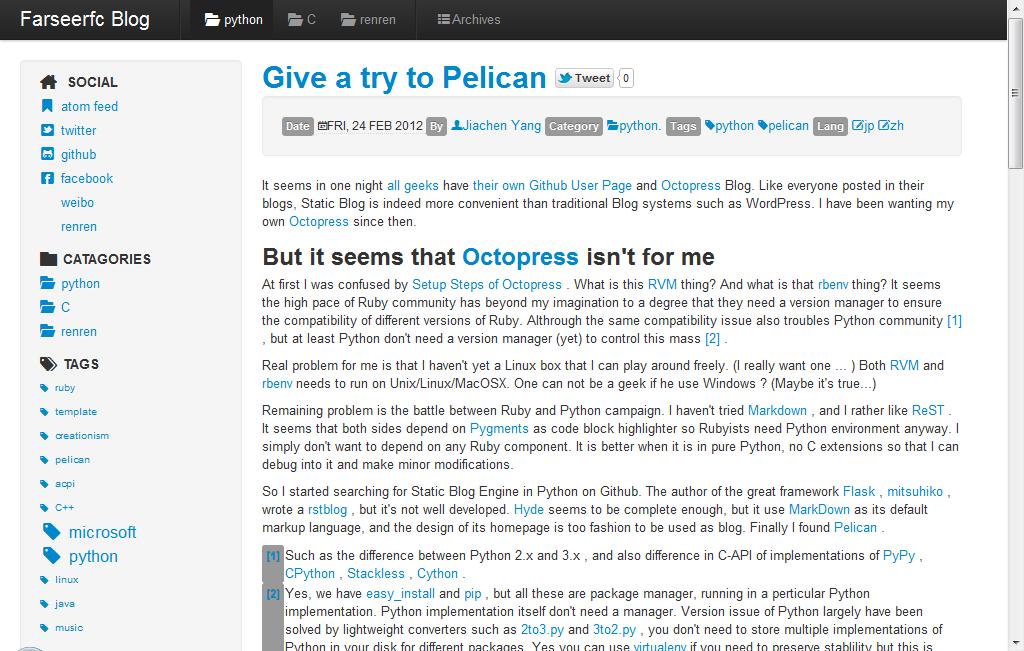 Pelican themes