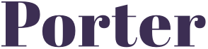 Porter Wordmark in the Abril typeface