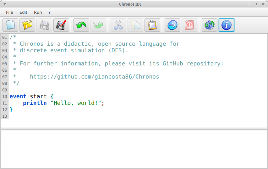 Chronos IDE - Screenshot
