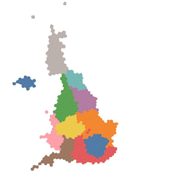 Voronoi-based map