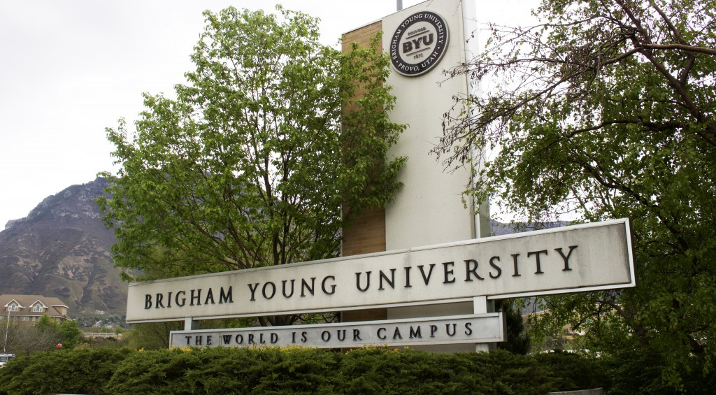 BYU's welcome sign: the world is our campus