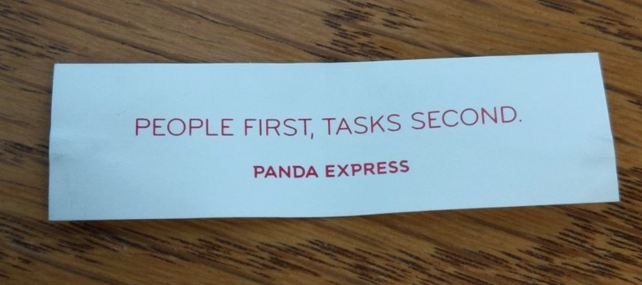 "My fortune: ""people first, tasks second"""