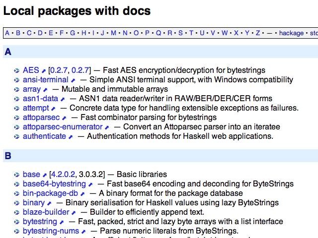 Screenshot of example docidx output