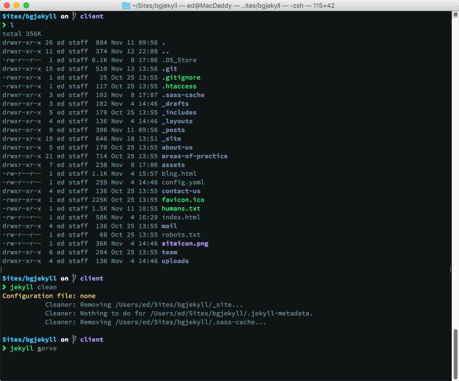 macOS Terminal example