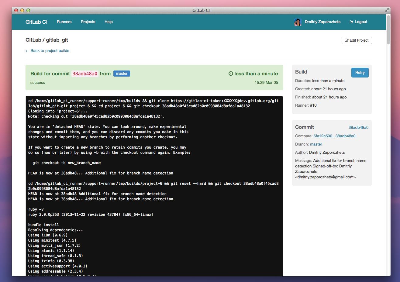 README md · DeploymentScript · Michael / gitlab-ci · GitLab