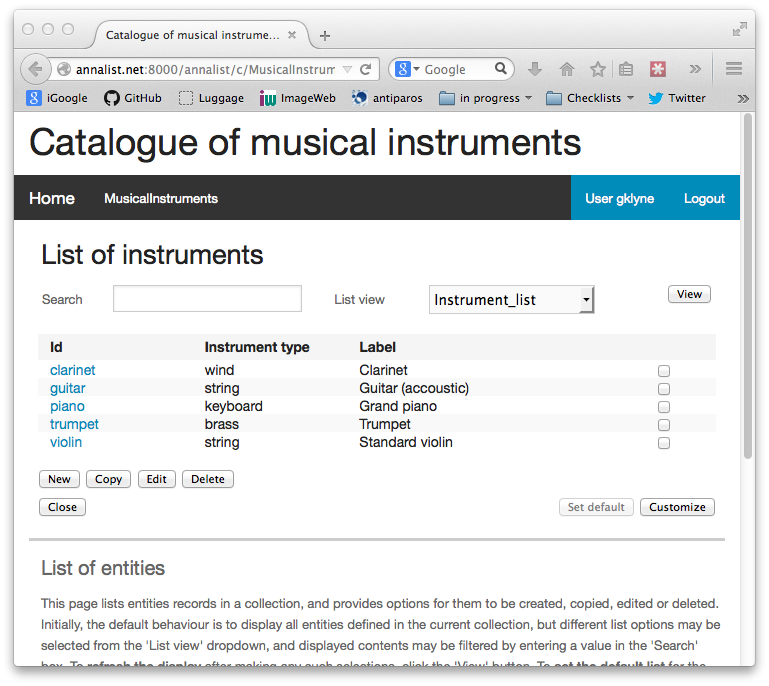 Updated list of musical instruments