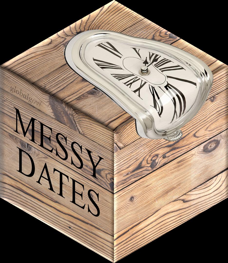 messydates hex sticker