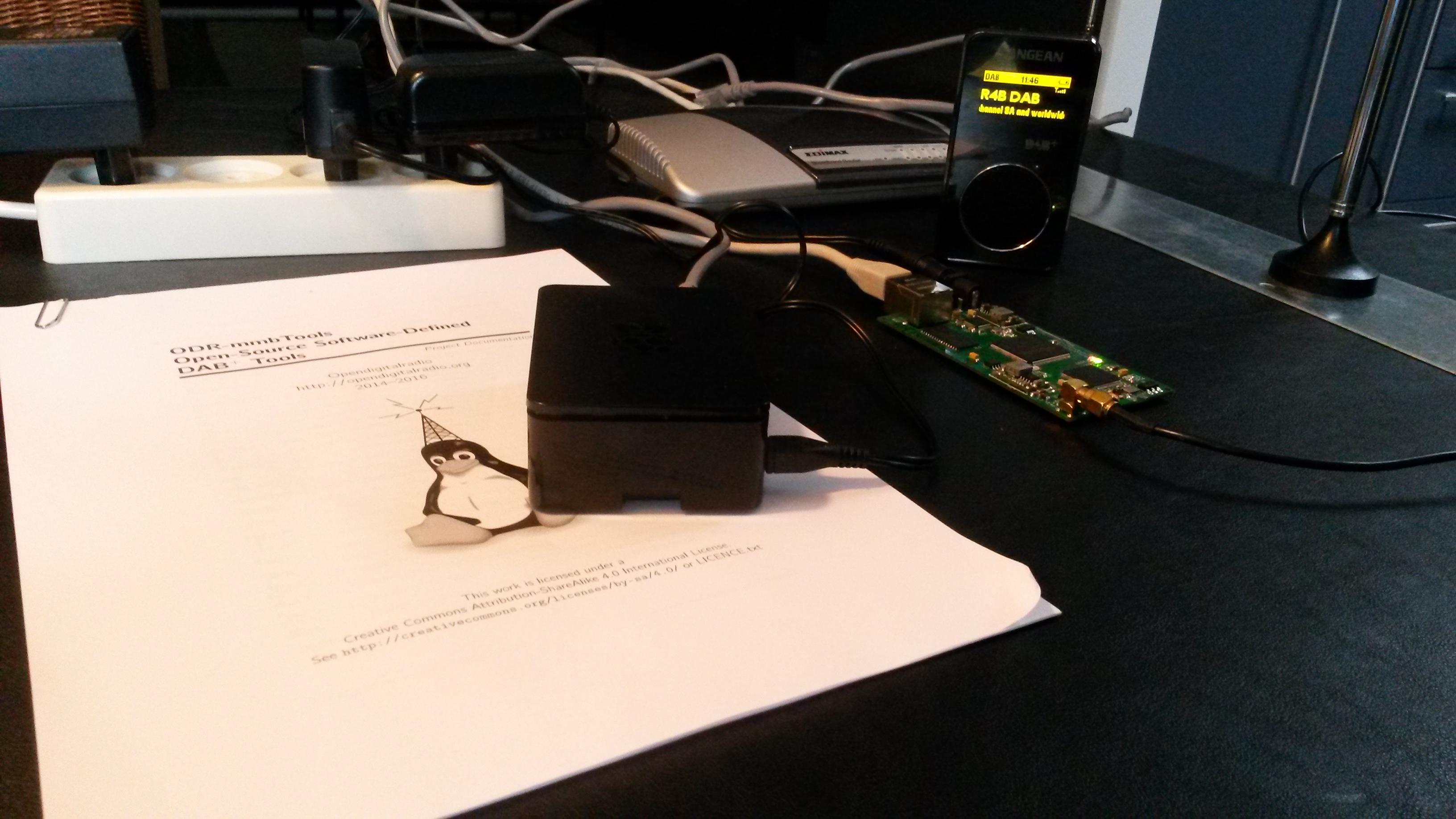 Photo of a RaspDAB setup
