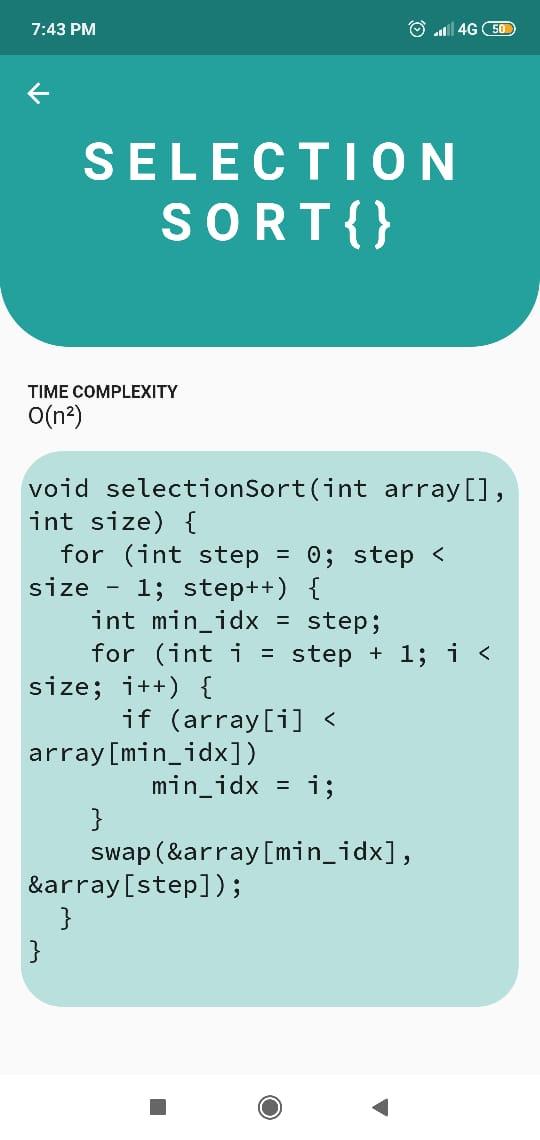 Algorithm or Code