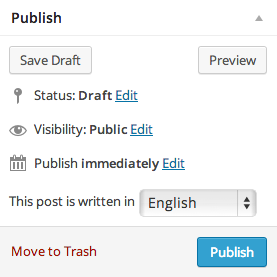 Publish Post Meta Box with proposed language select field