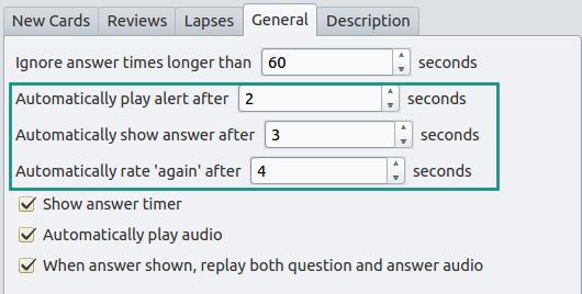Speed Focus Mode (auto-alert, auto-reveal, auto-fail) - AnkiWeb