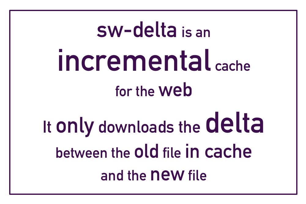 sw-delta is an incremental cache for the web. It only downloads the delta between the old file in cache and the new file.