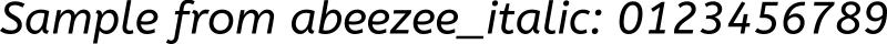 abeezee_italic