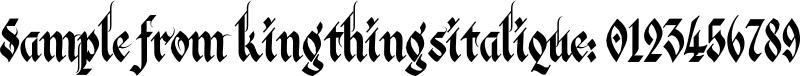 kingthingsitalique