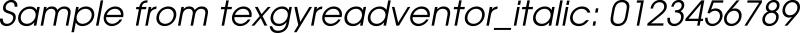 texgyreadventor_italic