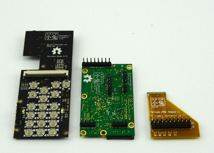 Boards with header pins added
