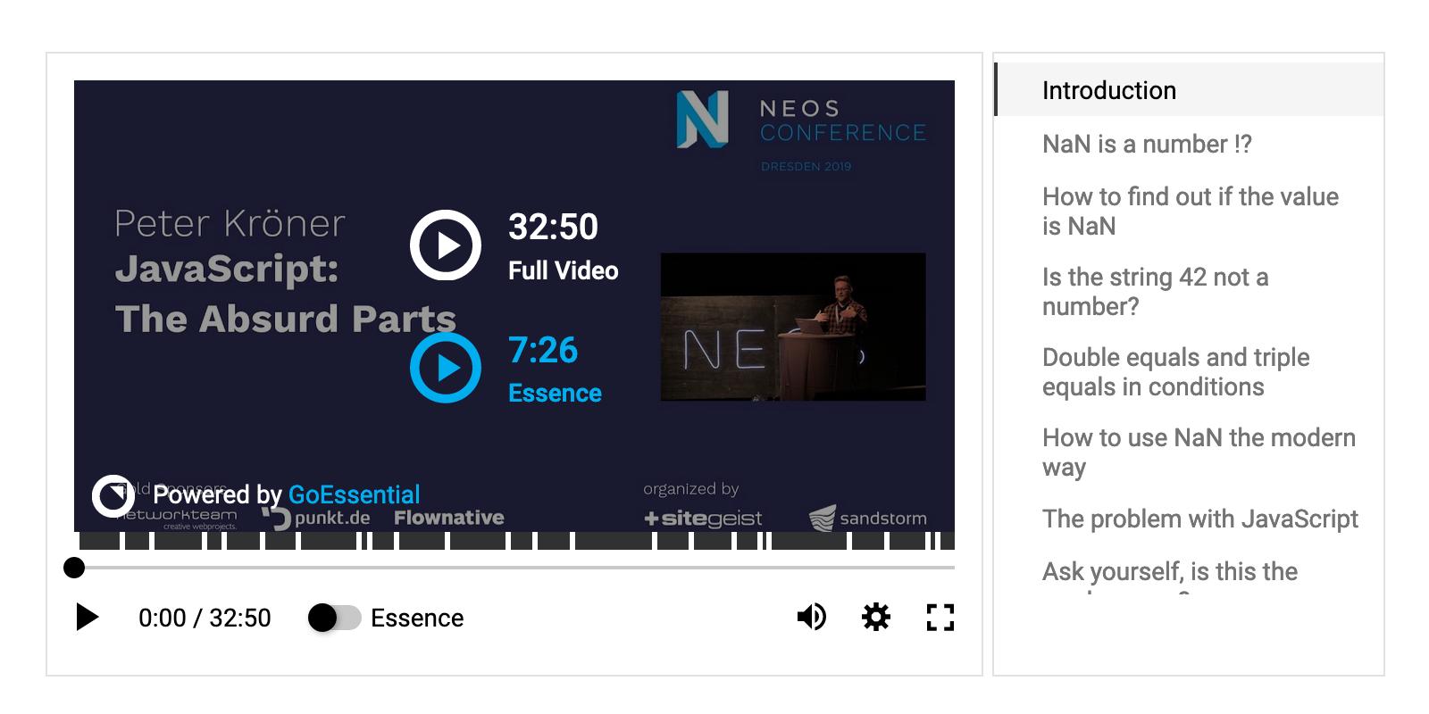 Preview in the Neos demo site