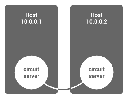 A circuit system of two hosts.