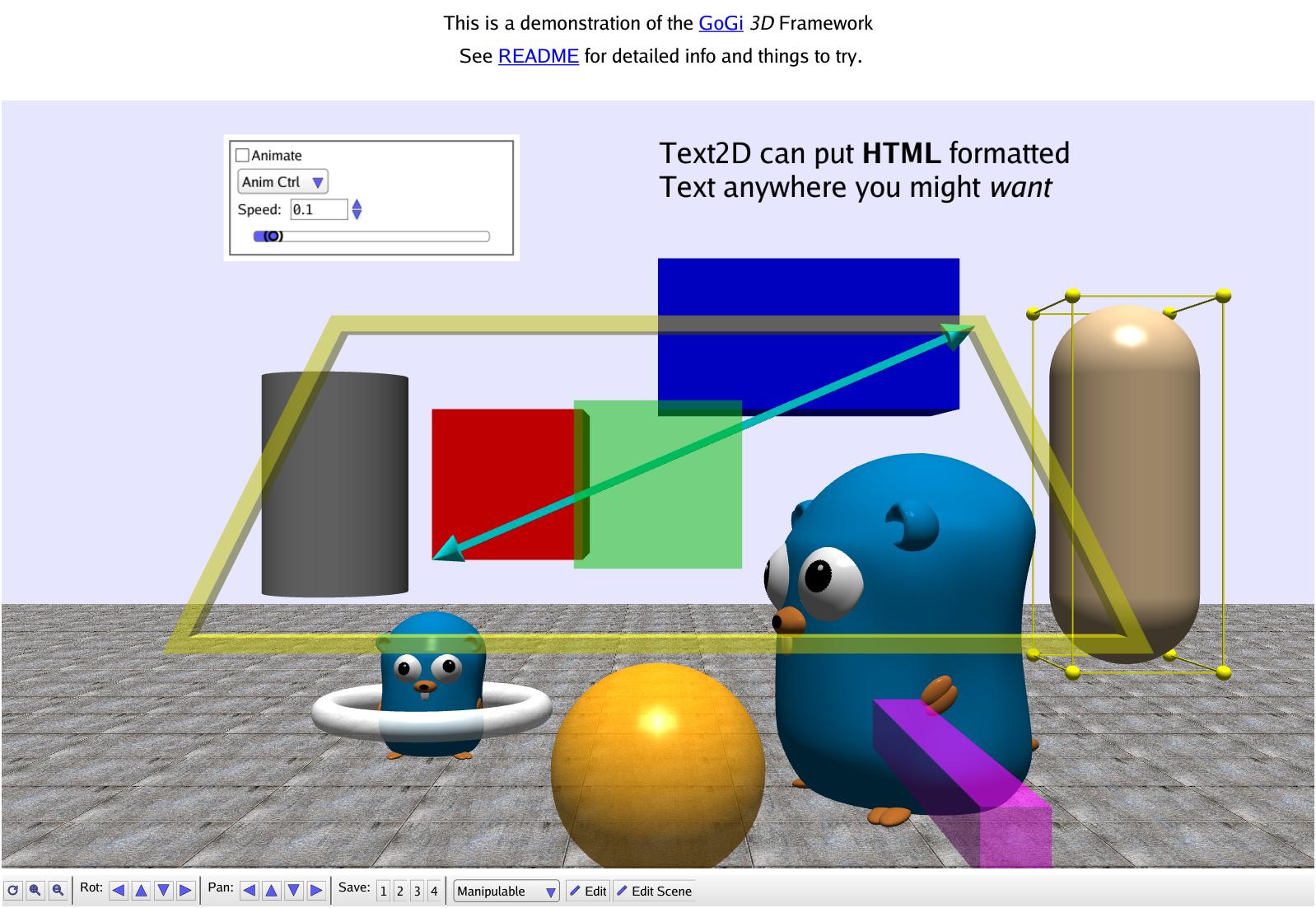 Screenshot of Gi3D demo