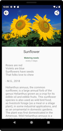Plant details